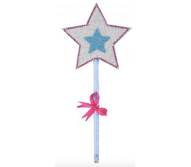 Varita mágica de princesa hecha con manualidad