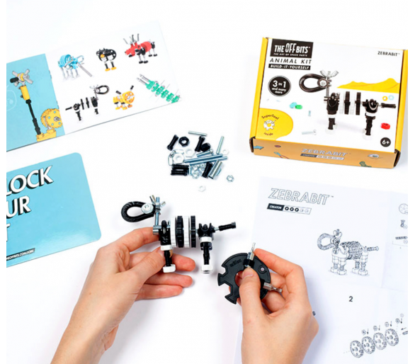 Kit de Construcción Cebra The Offbits para dar rienda suelta a la imaginación