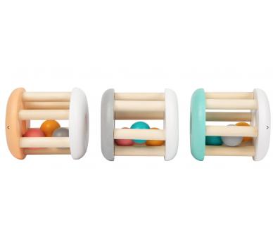 3 Sonajeros en Tonos Pastel ideal como primer regalo para bebés