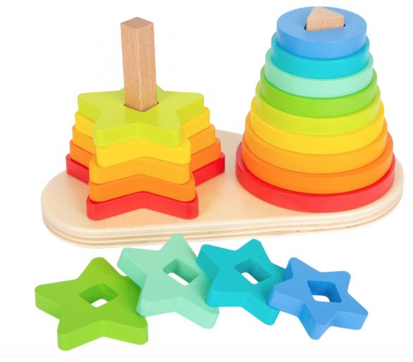 Juego para Encajar Torre Arco Iris para los bebés