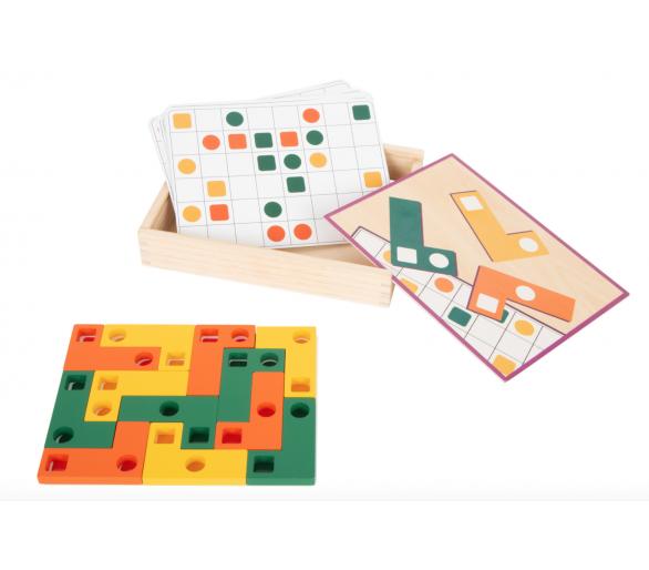 Juguete Educativo de Tetris Madera para llevar de viaje con YupiBag