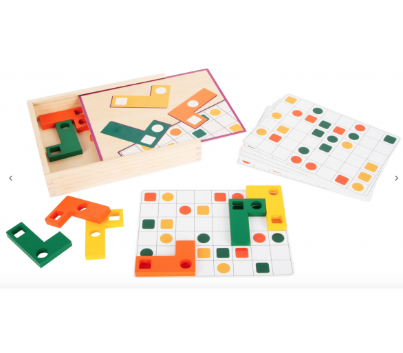 Puzle Educativo Tetris Madera Cajita para jugar sin pantallas