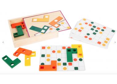 Puzle Educativo Tetris Madera Cajita +4