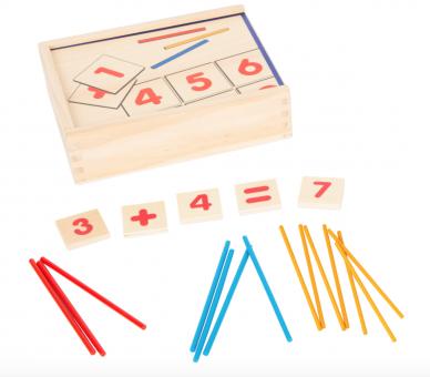 Juego Educativo Matemáticas Madera Cajita para aprender