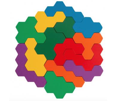 Puzzle Educativo Hexágono Madera para aprender jugando