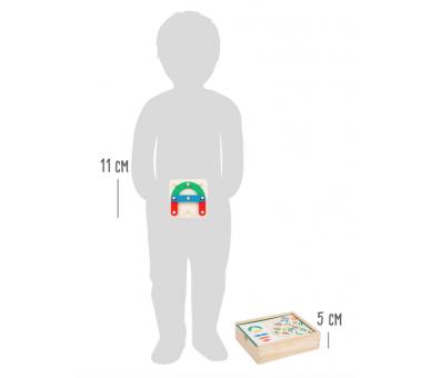 Juguete Educativo Puzzle de Letras y Números para llevar en la bolsita YupiBag