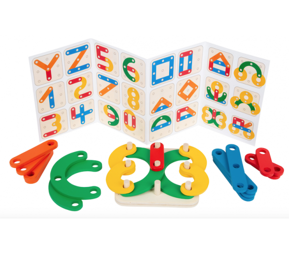 Juguete Educativo Puzzle de Letras y Números para aprender jugando