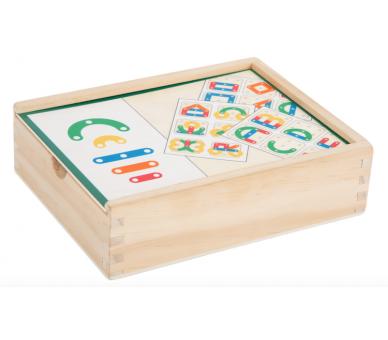Juguete Educativo Puzzle de Letras y Números en cajita para llevar