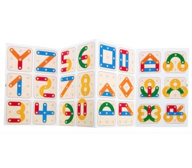 Juguete Educativo Puzzle de Letras y Números para imitar lo de las tarjetas