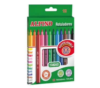 Rotuladores Alpino 12 Colores para dibujar en cualquier sitio