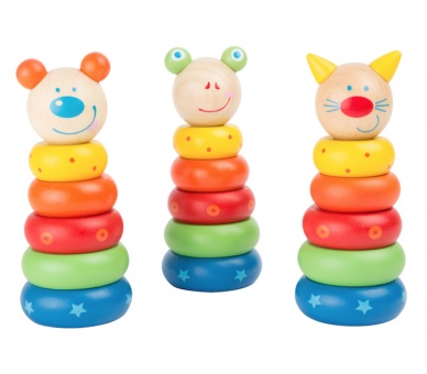 Torre Apilable de Arco Iris Animales para bebés