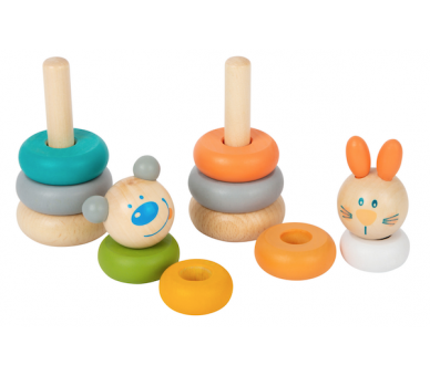 Juguete Educativo Torre Apilable Tonos Pastel para bebés