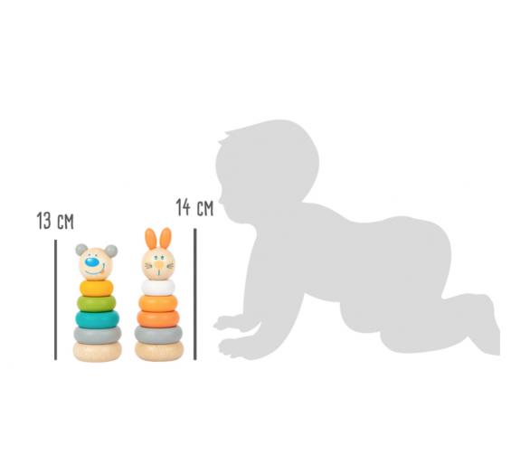 Torre en Tonos Pastel Osito Ideal para regalar a bebés