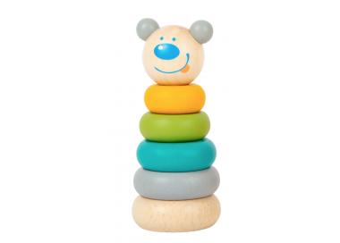 Torre Apilable Tonos Pastel Osito para Bebés
