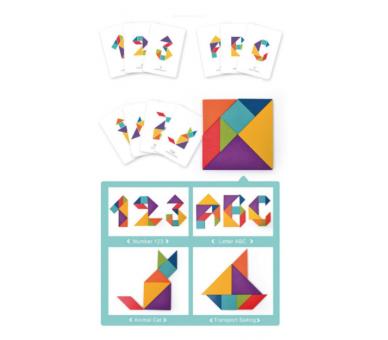 Juguete Educativo Tangram perfecto para llevar a cualquier sitio