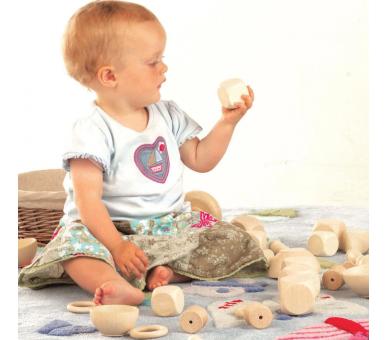Bolsa de los Tesoros con Materiales de Madera para Bebés