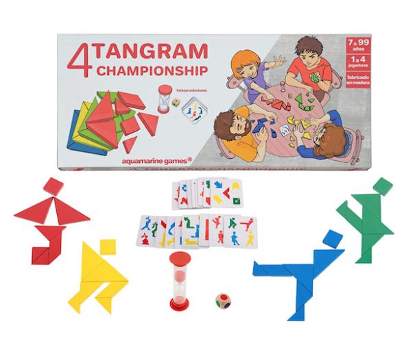 Juego con 4 Tangram Championship para jugar en familia