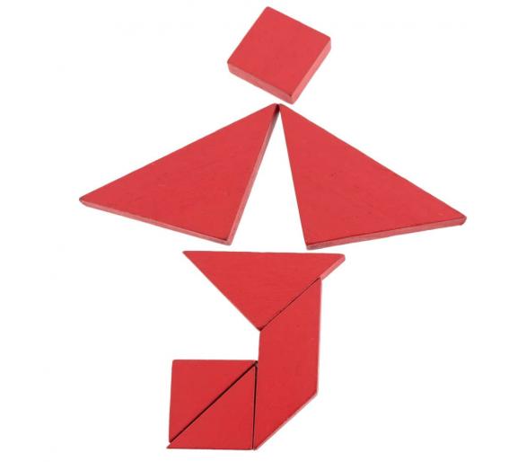 Juego con 4 Tangram para jugar con juguetes educativos