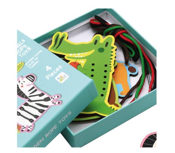 Animales para Enhebrar Cordones juguetes educativos