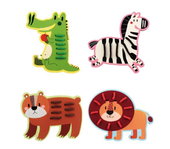 Animales para Enhebrar Cordones +3