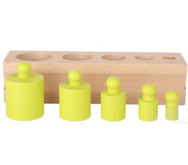 Juguete Educativo Encajar Pesos Vida Práctica Montessori  color verde