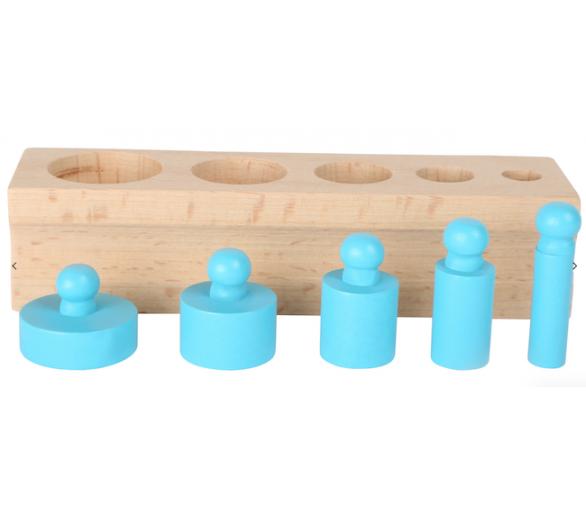 Juguete Educativo Encajar Pesos Vida Práctica Montessori  color azul