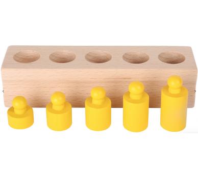Juguete Educativo Encajar Pesos Vida Práctica Montessori  color amarillo