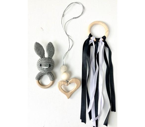 Elementos Montessori con Anilla Waldorf en Blanco y Negro
