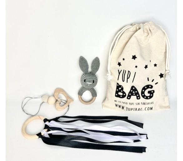 YupiBag Montessori y Anilla Waldorf en Blanco y Negro
