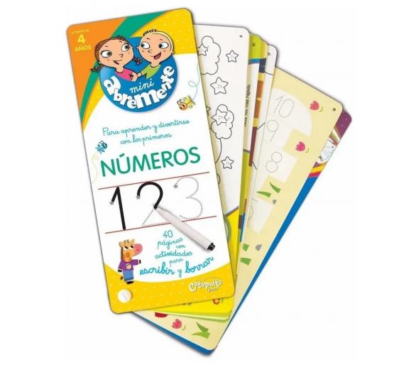 Abremente Para Escribir y Borrar: Números +4