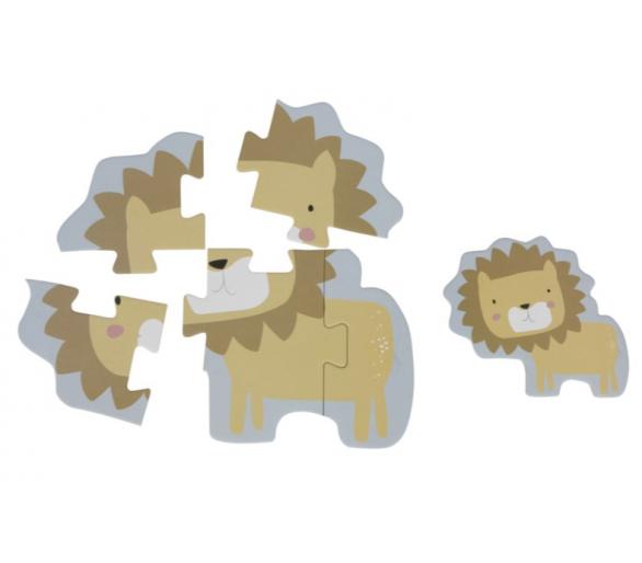 Ejemplo del Puzzle del león en tonos pastel
