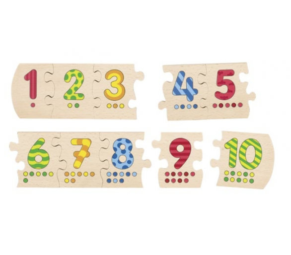 Puzle Educativo Números de Madera +3