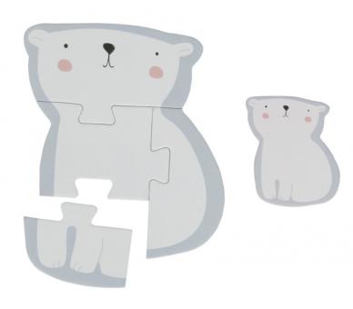 Ejemplo del Puzzle del oso en tonos pastel