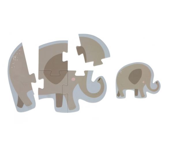 Ejemplo del Puzzle del elefante en tonos pastel