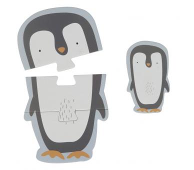 Ejemplo del Puzzle del pingüino en tonos pastel