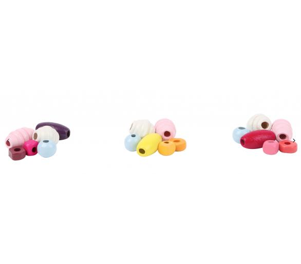 Perlas de Madera Hacer Collares Rosas Manualidades para jugar sin móviles