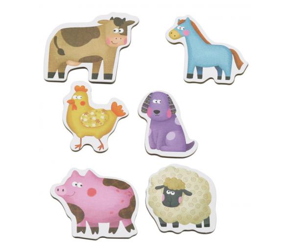 6 Puzles de Animales de la Granja +2