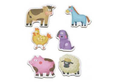 6 Puzles de Animales de la Granja Juguetes Educativos