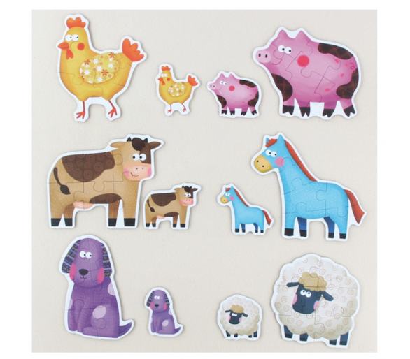Puzzles de Animales de la Granja Juguetes alternativos al móvil