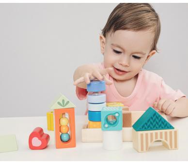 Bloques de Construcción Sensoriales Juguetes Montessori
