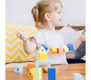 Juego para Enhebrar Bloques Juguetes Montessori
