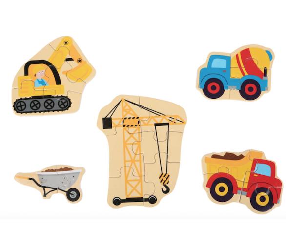 Puzles de Vehículos de Madera Eco-Friendly Juguetes Educativos