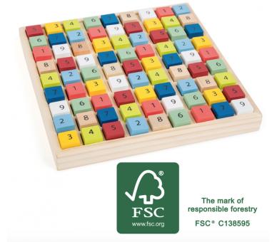 Puzle Educativo Sudoku de Madera para jugar en cualquier sitio