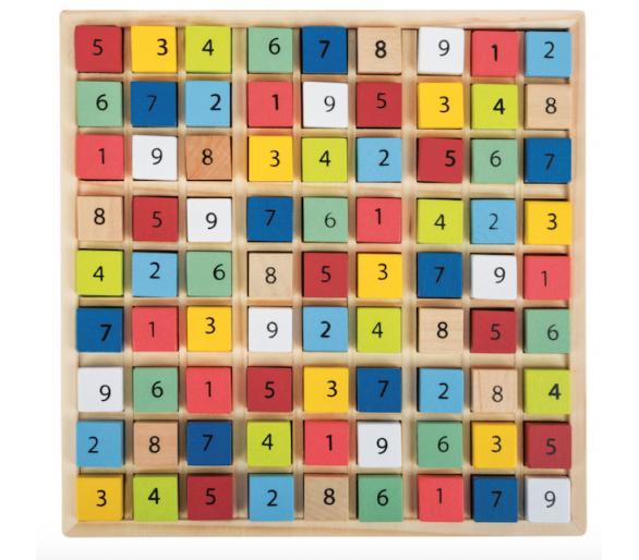 Puzzle Educativo Sudoku de Madera para jugar sin móvil