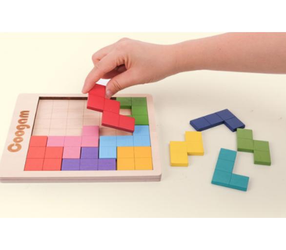 Juego Educativo del Tetris Madera para jugar sin pantallas