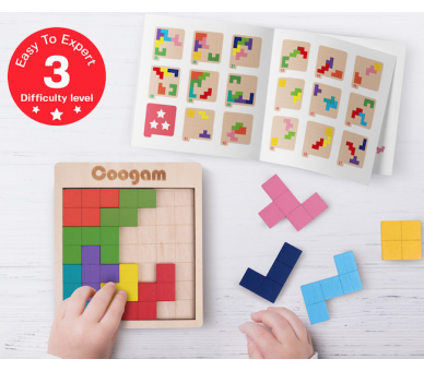 Juego Educativo del Tetris Madera Juguetes Montessori
