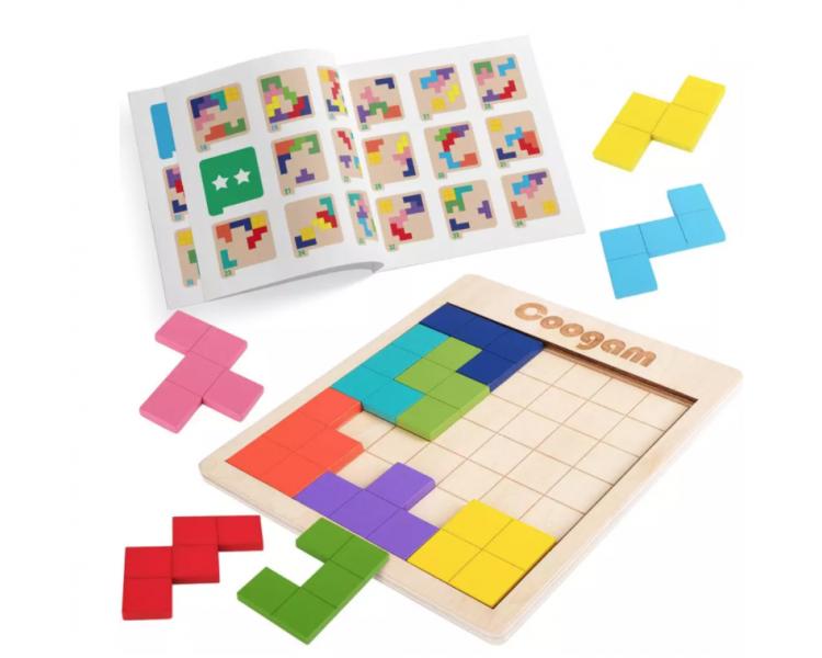 Juego Educativo del Tetris Madera +4