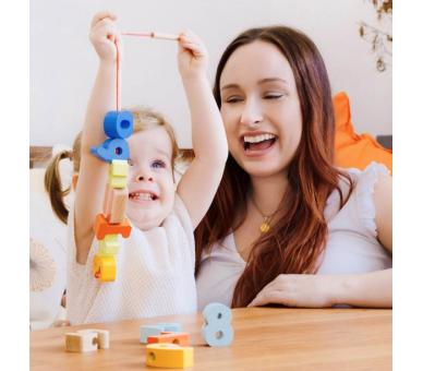 Juego para Enhebrar Números Juguetes Montessori