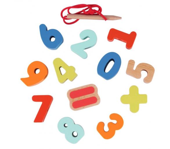 Juego para Enhebrar Números Juguetes Educativos