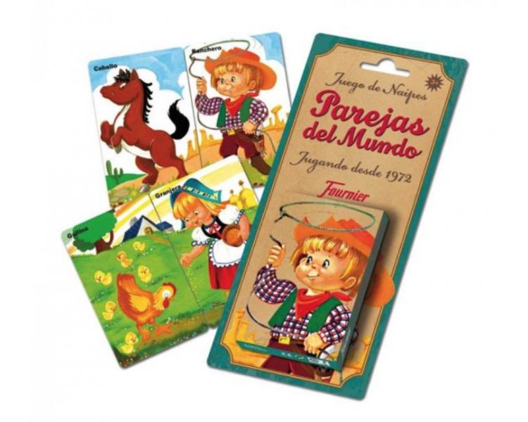 Baraja Cartas Parejas del Mundo Clásico Juguetes Vintage